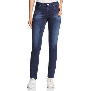 AG The Prima mid rise cigarette dark blue jeans 27